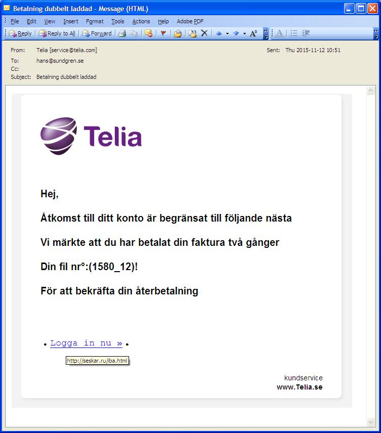 telia mail på iphone
