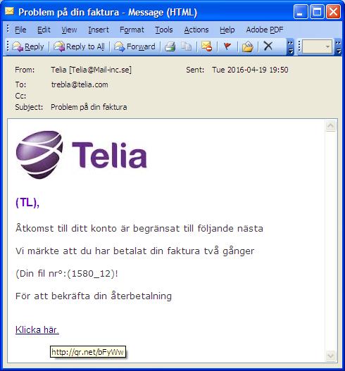 mail till telia