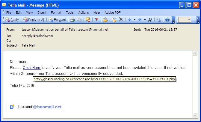 telia mail problem